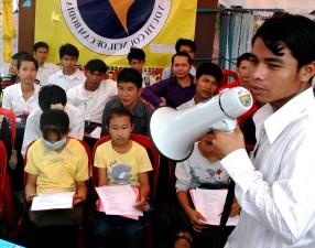 festival, Cambodia, students, participate