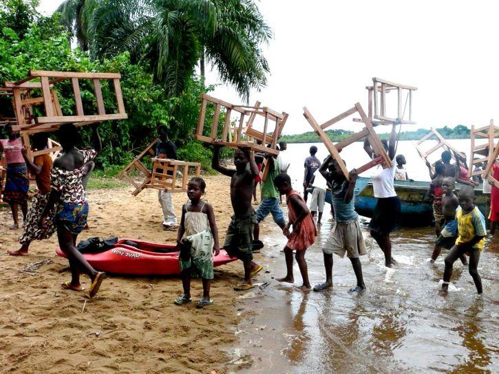tesari, ribar, mirovne snage, studenti, suradnja, stolovi, ruralnim, škole, Liberiji