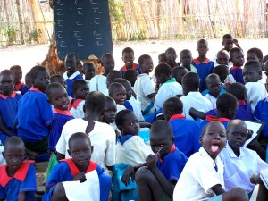 children, preparing, learn, read, Rejaf, primary school, Juba, Sudan
