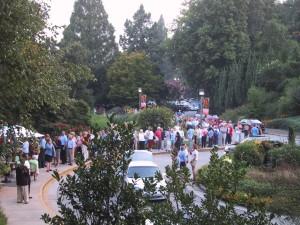 crowd, park