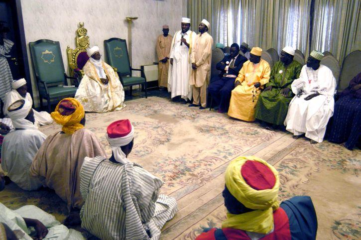 Honoratioren, vorbereiten, senden, Caravan, Abuja, Nigeria, Reisen, Sahel, Region