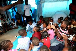 Haiti, säker, utrymme, barn, läger