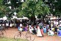 Large crowd on meeting in Uganda