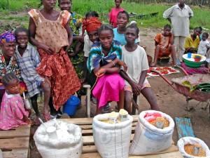 liberia, marché, scène, fournisseurs, local, marché