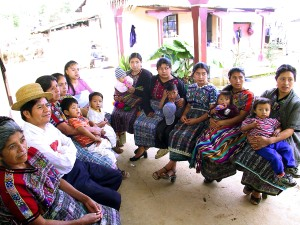 Mayan, women, joined, one, man, receive, family, planning, counseling