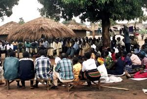 meeting, people, village, Uganda, Africa