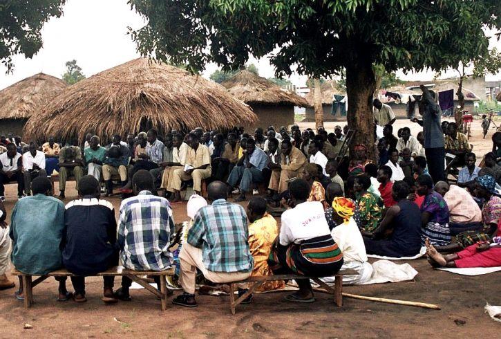 Free picture: meeting, people, village, Uganda, Africa