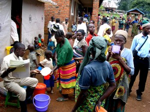 milk, distribution, therapeutic, feeding, center, Kalonge, Kivu