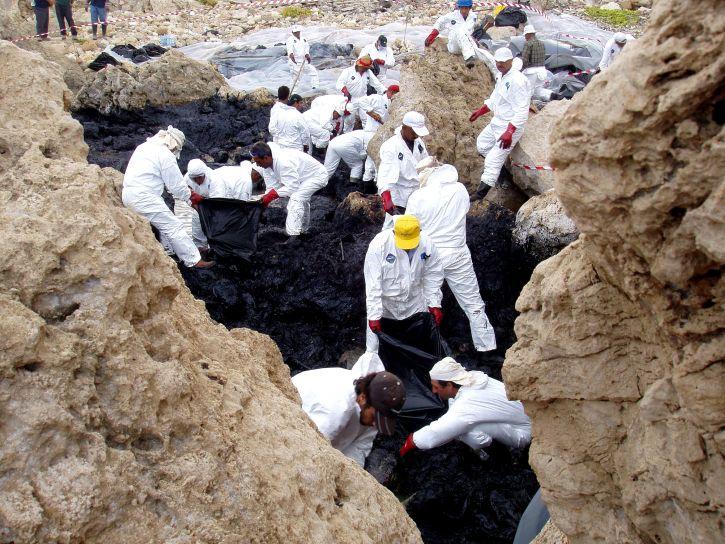aceite, derramamiento, la limpieza, la limpieza, la costa, el medio ambiente
