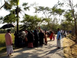 人々 は、道路、Dhulia、ユニオン、Barguna、サダー、郡、Barguna、バングラデシュ