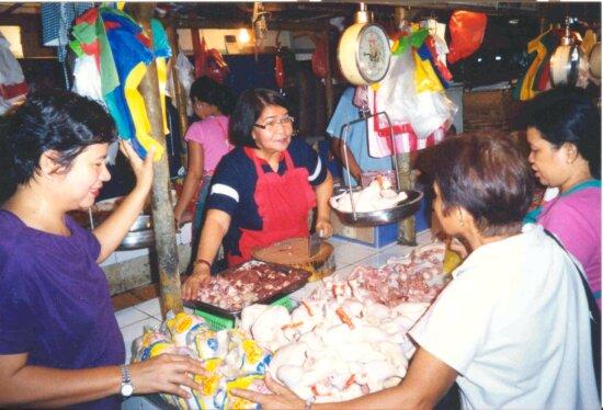 Öffentlichkeit, Markt, Philippinen, sauberer, Installation, U-Bahn, Abfall, Wasser, Behandlung, Pflanze