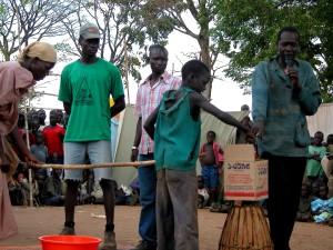 village, les gens, vote, participer, élection, processus