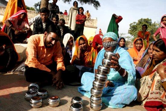 villagers, play, game, demonstrates, important, women