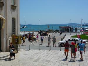 turister, sommar, semester