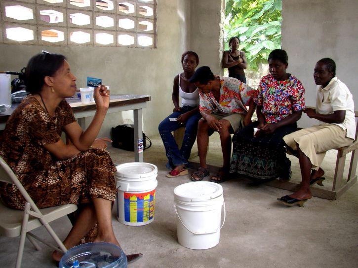 vody, čistenia, tropical storm, Jeanne, bráni, zdravie, kríza, Haiti