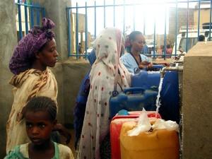 voda, zdrojov, čisté, dva, dediny, Eritrea