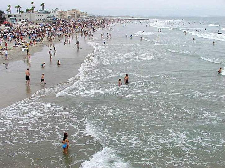 waves, beaches, ocean, crowds, swimmers, swimming