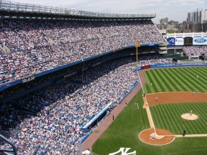yankees, le stade, la foule