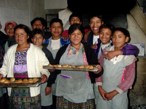 youth, learn, bake, youth, leadership, training, camp, Solola, Guatemala