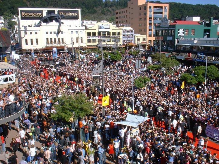crowds, lord, rings, movie