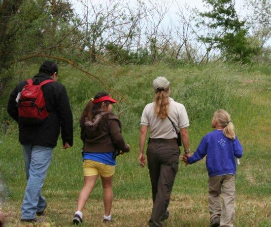 docente, ha portato, birdwatching, escursione