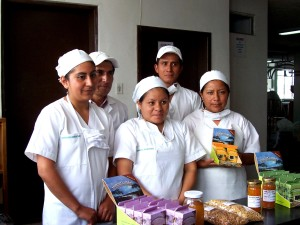 ecuador, Yachama, Gourments, workers, display, products