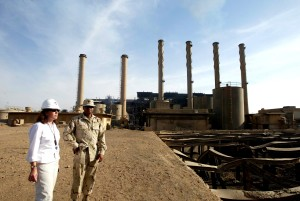engineers, site, inspection, Baghdad, power, plant
