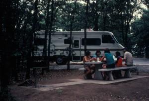 famille, apprécier, nature, le camping