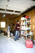 father, organizing, garage, children, house