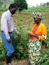 femme, agriculteur, Rwanda, optimiste, vendre, huile, plantes