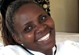 Africano, mujer Afro, reír, de cerca, la cara