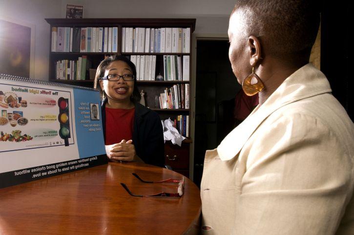 Afro-américaine, les travailleurs, bureau