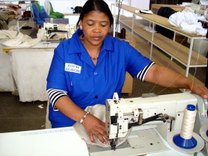 African, woman, work, design, factory