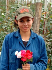up-close, Colombian, girl, floriculture, graduate, national, flower, association, greenhouse