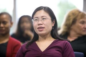 up-close, portrait, Asian, American, female