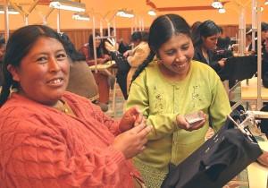 embroiderers, werk, harde, ontmoeten, exporteren