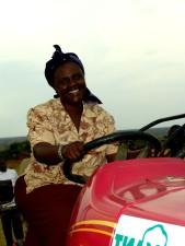 Femeie, driver, tractor, vehicule