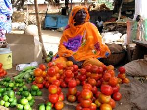 femminile, mercato, venditore, mercato, Sudan