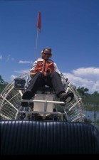 female, airboat
