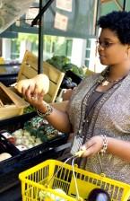 female, shopping, market