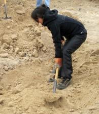 hembra, trabajador, asistencias, construcción
