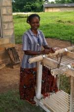 female, work, extracting, moisture, cassava, roots