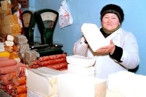 female, work, store, Kyrgyzstan