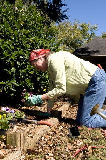 jardinage, femme