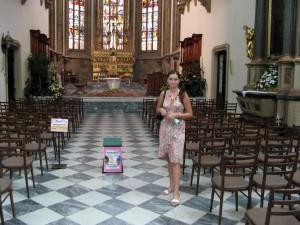 meisje, kathedraal