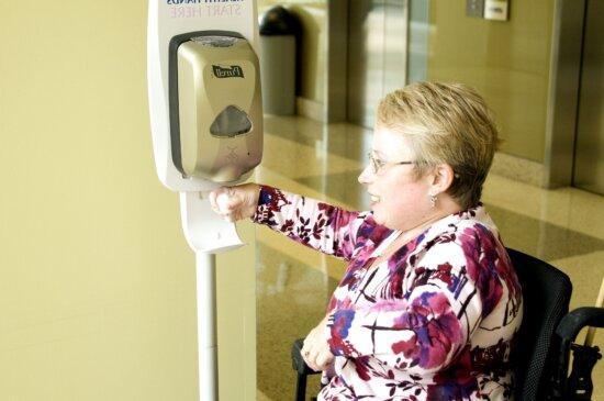 hand, sanitizer, automatic, dispenser
