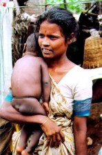 Indian, woman, child