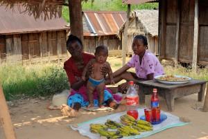 Madagaszkár, nők, jövedelmet termelnek, értékesítés, gyümölcs, zöldség