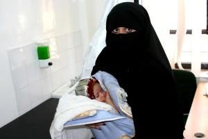 mère, enfant, Yémen, visite, clinique