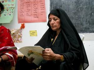 Pakistan, familier, Lær, lese, skrive, sammen